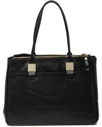Cole Haan Tali Leather Tote - Black