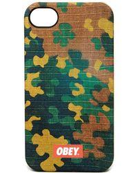 Obey - Textile Dissent Snap Case - Lyst