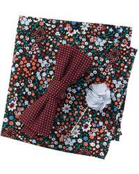 Original Penguin - Worthing Dot Bow Tie, Pocket Square, & Lapel Pin Set - Lyst