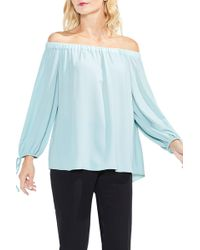 Vince Camuto - Tie-cuff Off The Shoulder Blouse - Lyst