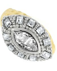 1928 - Crystal Dome Marquis Ring - Size 7 - Lyst