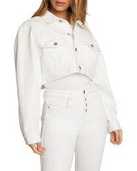 GOOD AMERICAN New Crop Denim Jacket - White