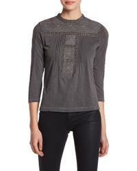 Lucky Brand - Embroidered Yoke & Detail Shirt - Lyst