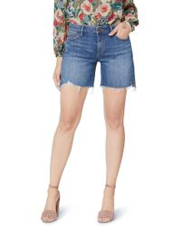 Sam Edelman The Derby Raw Hem Denim Shorts - Blue