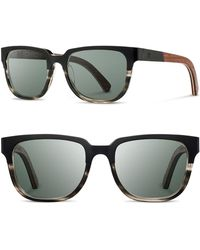 Shwood - 'prescott' 52mm Titanium & Wood Sunglasses - Lyst