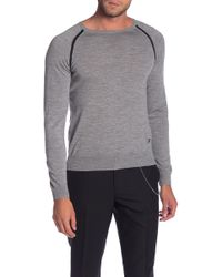 The Kooples - Long Sleeve Contrast Trim Sweater - Lyst