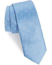 1901 Mawbly Mini Skinny Silk Tie - Blue