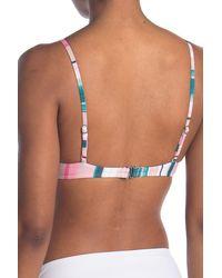 The Bikini Lab Horizon Triangle Bikini Top - Multicolor
