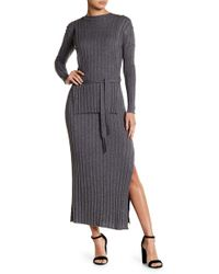 Fate - Long Sleeve Solid Knit Dress - Lyst