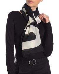 Love Moschino Moschino Bear Cashmere Blend Scarf - Black