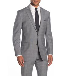 Brooks Brothers - Light Grey Plaid Two Button Notch Lapel Regent Fit Suit Separates Jacket - Lyst