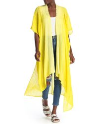 Free People Angelica Dip Dye Duster - Yellow
