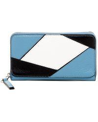 Perlina | Reef Leather Patchwork Zip-around Wallet | Lyst