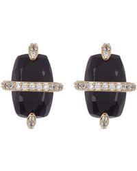 Nadri - Noir Onyx Crystal Wrapped Stud Earrings - Lyst
