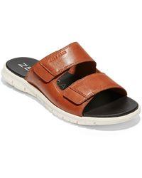 Cole Haan Zerogrand Dual Strap Slide Sandal - Brown