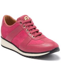 Longchamp Genuine Calf Hair & Leather Sneaker - Pink