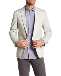 Borgo 28 - Unconstructed Tan Woven Two Button Notch Lapel Regular Fit Blazer - Lyst