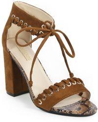 c9d14e88828 Catherine Malandrino - Strake Lace-up Block Heel Sandal - Lyst