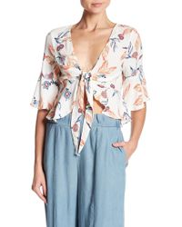 Mustard Seed   Front Tie Floral Blouse   Lyst
