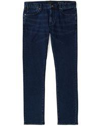 John Varvatos Bowery Slim Fit Straight Jeans - Blue