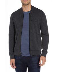 Robert Barakett Front Zip Knit Jacket - Black