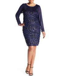 Marina - Beaded Glitter Sheath Dress (plus Size) - Lyst