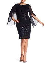 Marina - Flutter Lace Sheath Dress (plus Size) - Lyst