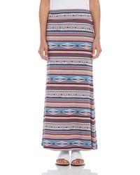 Karen Kane Womens Miter Contrast Maxi Skirt