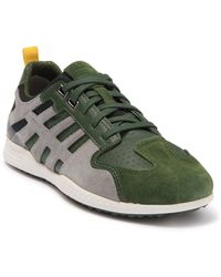 Geox Snake Leather Lace-up Sneaker - Green