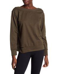 Sam Edelman Distressed Boatneck Sweatshirt - Multicolor
