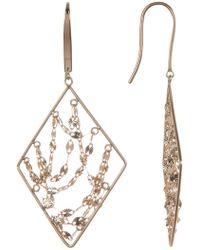 Lana Jewelry - 14k Yellow Gold Diamond Webbed Earrings - Lyst