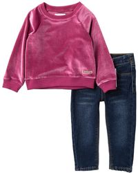 0a99f24ce Hudson Jeans - Reverse French Terry Pullover & Jeans Set (baby Girls) - Lyst