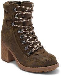 Carlos By Carlos Santana Ardent Block Heel Combat Boot - Brown