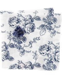 Original Penguin - Gates Floral Pocket Square And Lapel Pin Set - Lyst