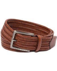 BOSS - Seymo Woven Leather Belt - Lyst