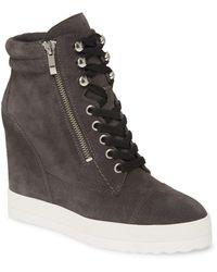 PAIGE Zoe Wedge Sneaker - Gray