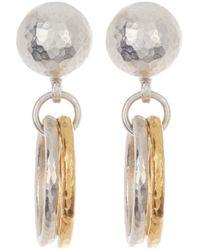 Gurhan Two-tone Sterling Silver Hoopla Double Link Drop Earrings - Metallic