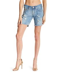 True Religion - Jade Flap Pocket Denim Shorts - Lyst