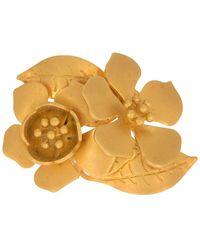 Valentino Garavani Flower Blossom Ring - Metallic