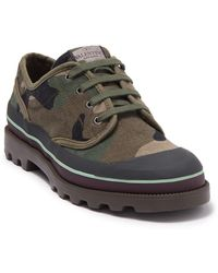 Valentino Camo Lace-up Lug Sole Sneaker - Green