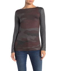 Go Couture Boatneck Hacci Sweater - Gray