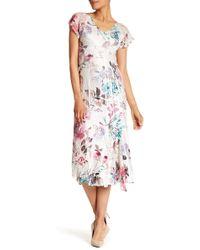 Komarov - Flutter Sleeve Dress - Lyst