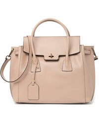 Luisa Vannini Leather Tote In Cipria At Nordstrom Rack - Pink