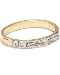 Vince Camuto - Pave & Faceted Crystal Hinged Bracelet - Lyst