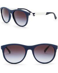 Emporio Armani - 56mm Oversized Acetate Frame Sunglasses - Lyst