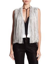 Lamarque - Brittany Leather Fringe Vest - Lyst