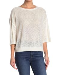 Michael Stars Marla Draped Open Back Sweater - White