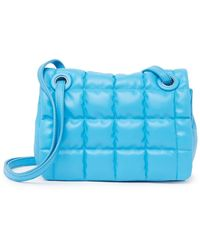 Vince Camuto Jass Quilted Convertible Crossbody Bag - Blue