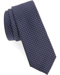 Calibrate - Microcheck Silk Tie - Lyst