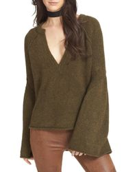 Free People - Lovely Lines Bell Sleeve Jumper - Lyst